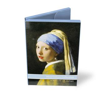 Porte-cartes, lot de 10 cartes, thème Mauritshuis