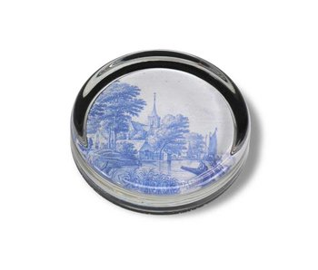 Paperweight Ø 85 mm, Delft blue tile, Frytom