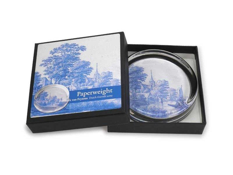 Presse-papiers Ø 85 mm, carrelage bleu Delft, Frytom
