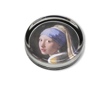 Paperweight, Ø 85 mm, Girl with a Pearl Earring, Vermeer
