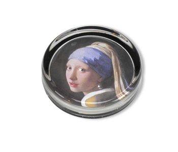 Presse-papier, Ø 85 mm , Meisje met de parel, Vermeer