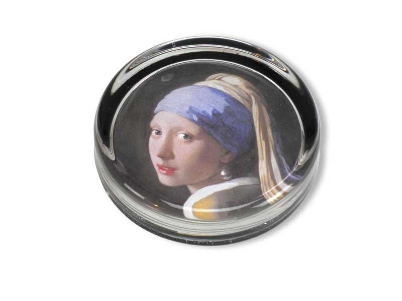 Briefbeschwerer, Ø 85 mm, Mädchen mit Perlenohrring, Vermeer