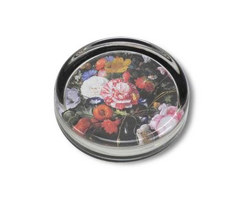 Paperweight Ø85 mm, Still life with flowers, De Heem