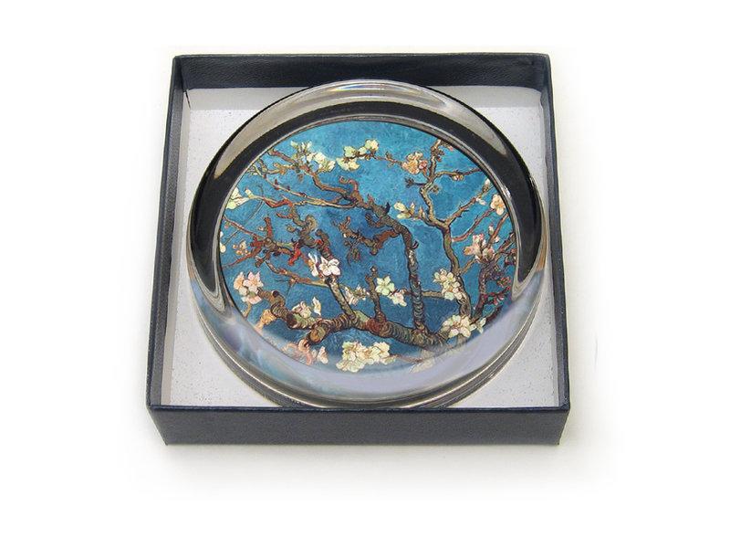 Briefbeschwerer, Ø85 mm, Mandelblüte, Van Gogh