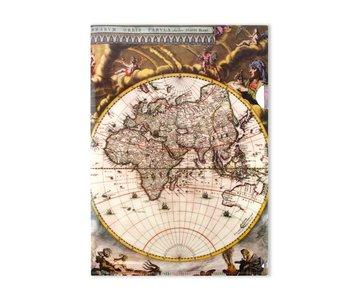 Porte-documents A4, carte du monde
