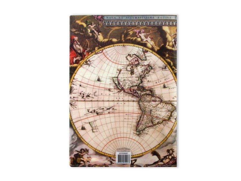 L-Ordner A4-Format  Weltkarte