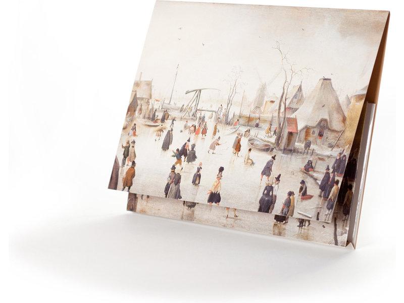 Dossier d'archives, Paysage d'hiver, Avercamp