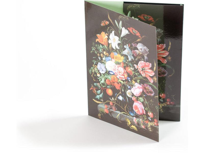 Archivordner, Vase mit Blumen, De Heem