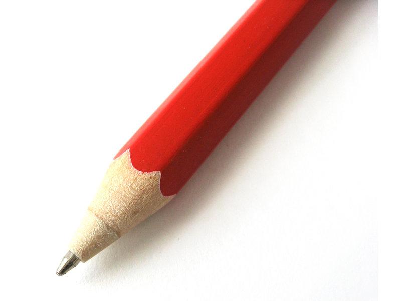 Bolígrafo de madera, rojo