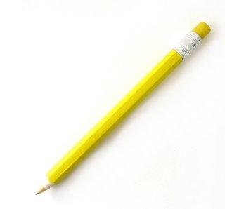 Holzkugelschreiber, gelb