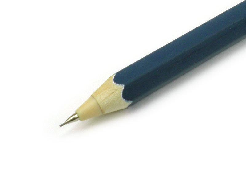 Holzdruckbleistift, W, Blau