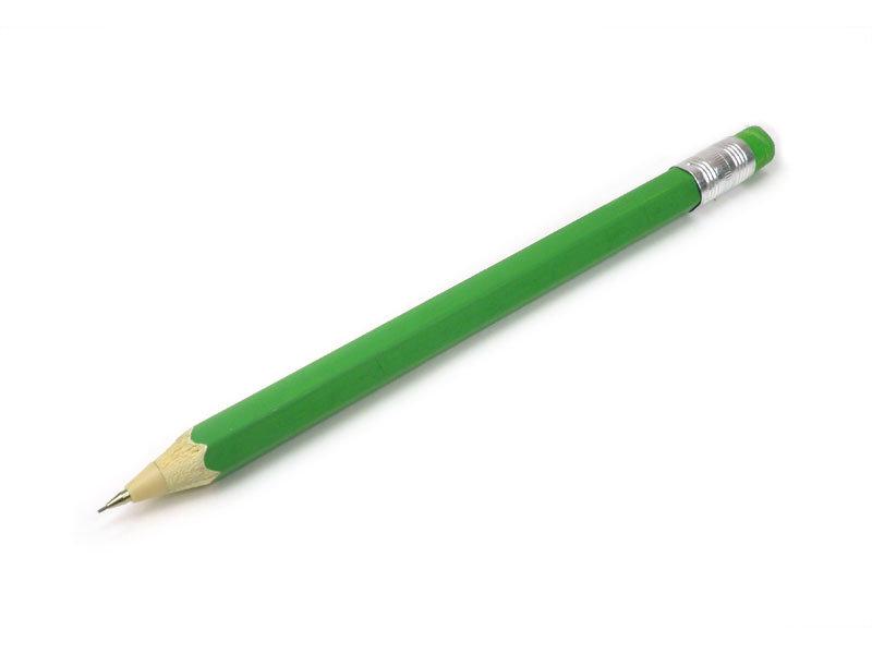 Lápiz Mecánico de Madera, Verde