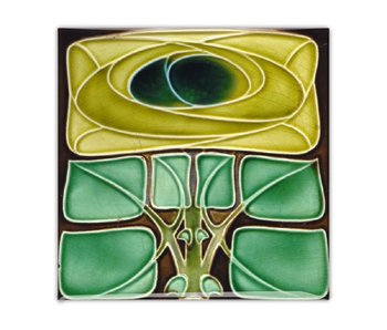 Fridge Magnet, Art Nouveau Tile, Flower, Celtic Rose