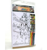 Toys W, Colour-in Postcards Tournament Knights