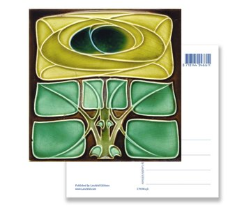 Ansichtkaart, Art Nouveau, Keltische roos
