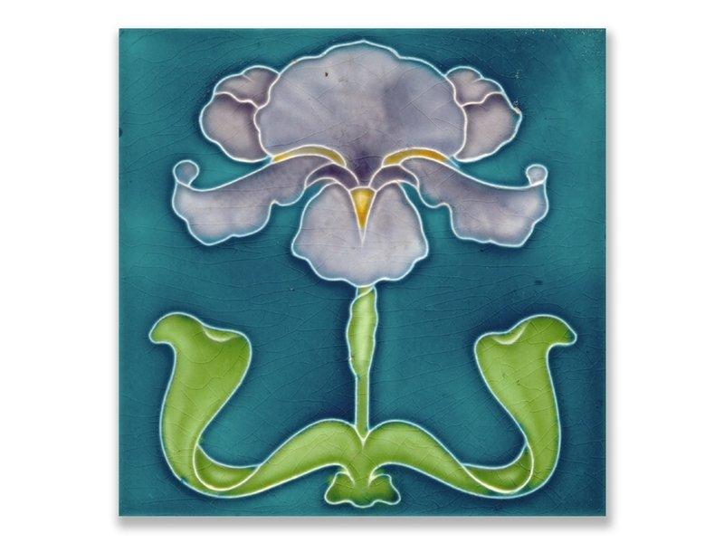 Carte postale, Art Nouveau, Iris violet