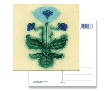 Postcard, Art Nouveau, Blue flower