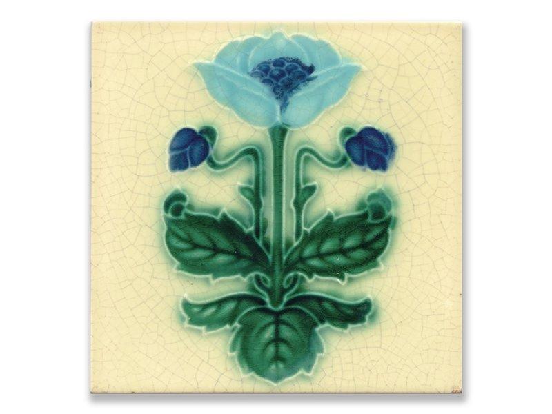 Ansichtkaart, Art Nouveau, Korenbloem