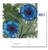Ansichtkaart, Blauwe bloem, Arts and crafts