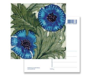 Postal, Flor azul, Artesanía