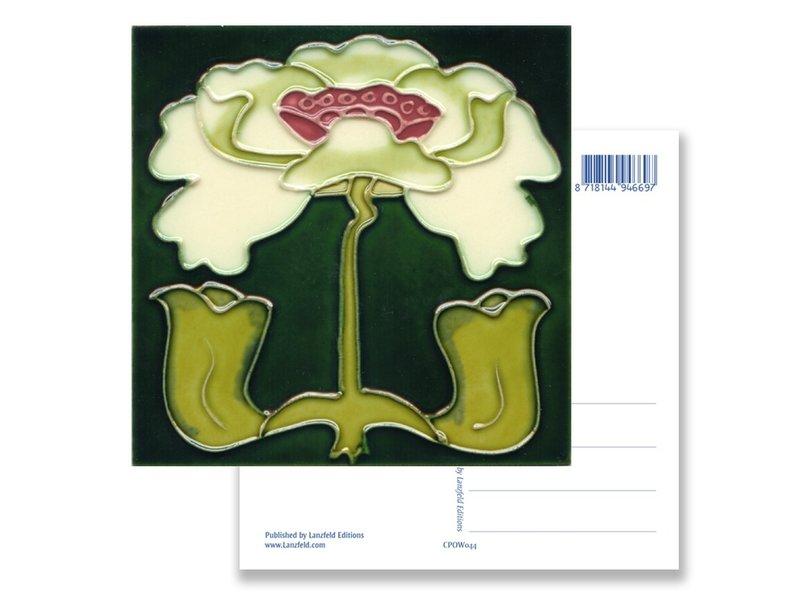 Ansichtkaart, Art Nouveau, Lelie wit