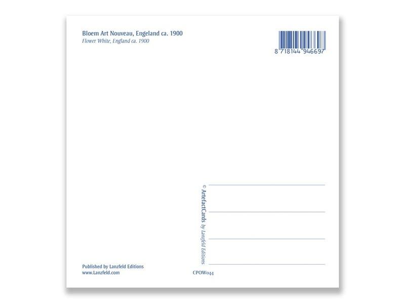 Carte postale, Art Nouveau, Lily blanc