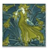 Carte postale, Art nouveau, Flora lady
