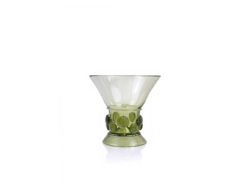 Glas, Berkemeier, Nieten 10 cm, grün