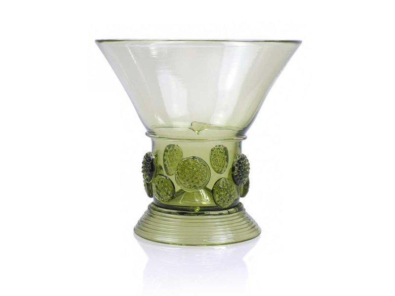 Glas ,Berkemeier, noppen 10 cm, groen