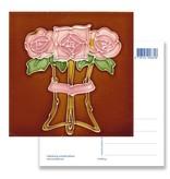 Ansichtkaart, Art Nouveau, Drie roosjes