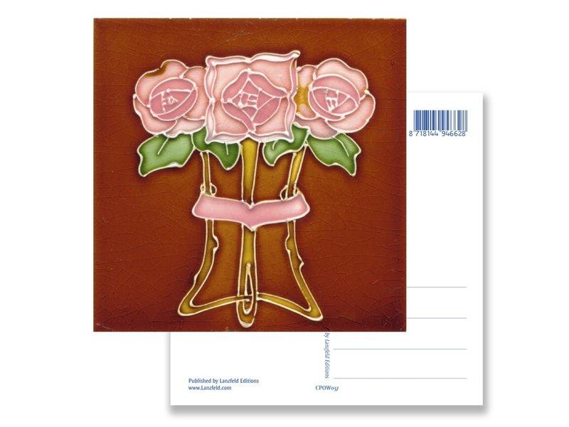 Postkarte, Jugendstil, Drei Rosen 1910