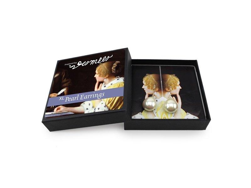 Boucles d'oreilles en perles, argent, XL Vermeer, Maîtresse