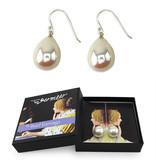 Pendientes de perlas de plata,  XL, Vermeer, Amante