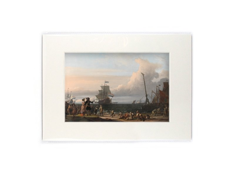 Matted prints with reproduction, L, Rede van Texel, Bakhuysen