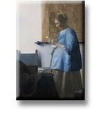 Kühlschrankmagnet, Frau, die einen Brief liest, Vermeer