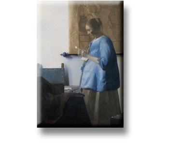 Imán de nevera, mujer leyendo una carta, Vermeer
