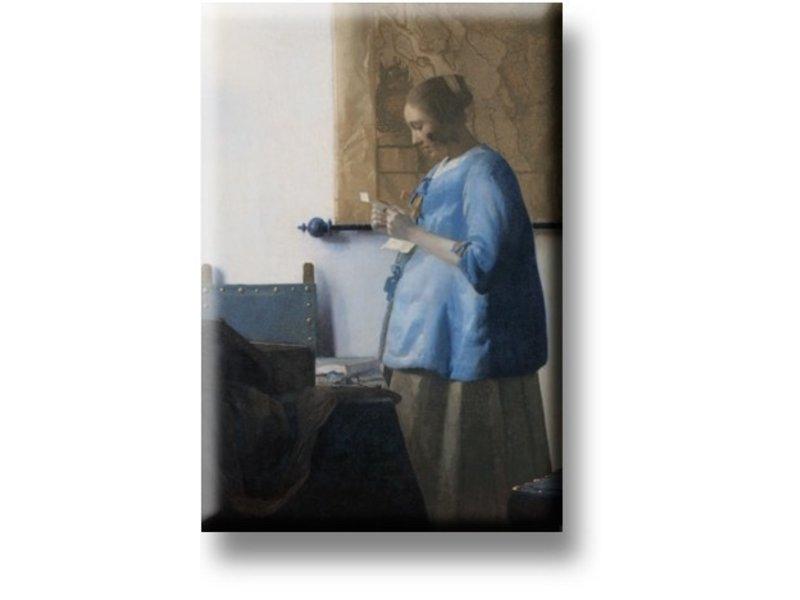 Koelkastmagneet, Brieflezende vrouw, Vermeer