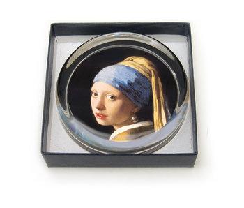 Briefbeschwerer, Ø55 mm, Mädchen mit Perlenohrring, Vermeer