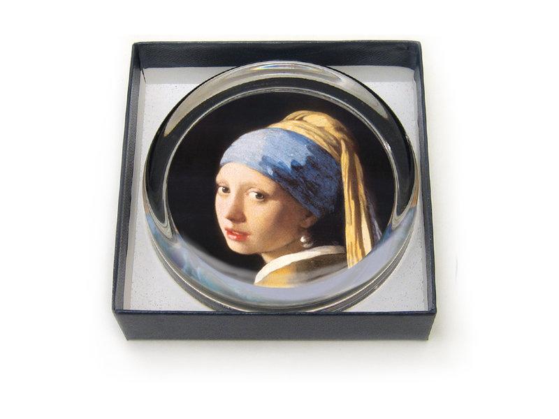 Presse-papier, Ø55 mm, Fille avec une boucle d'oreille perle, Vermeer