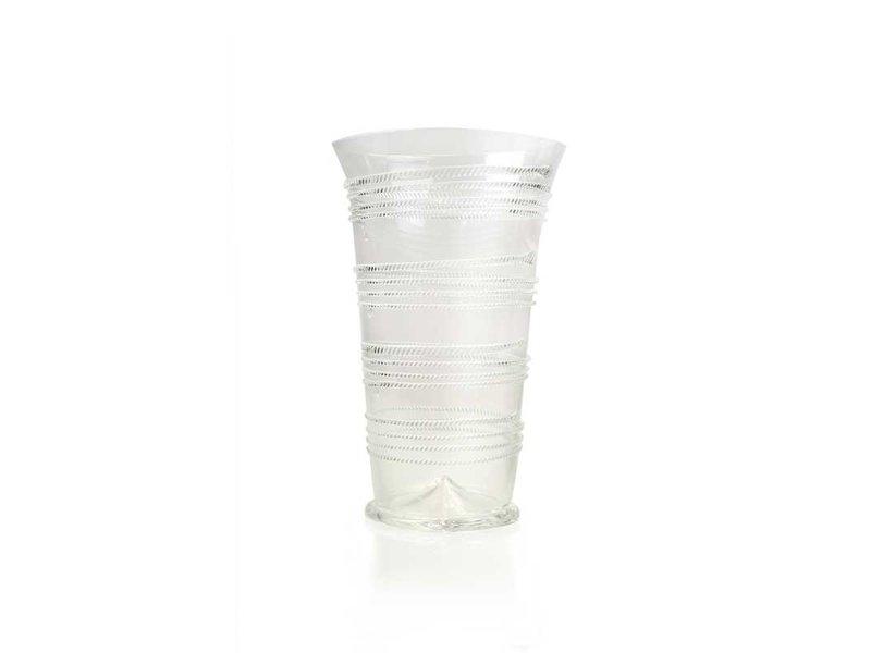 Glasbandwurmbecher, 15 cm, klar