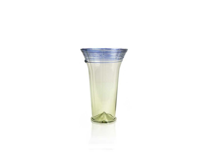 Chalice cup, 12 cm, green with blue detail