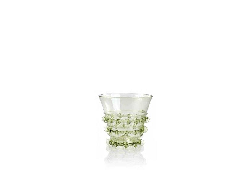 Historical glass, Berkemeier, 7 cm, green