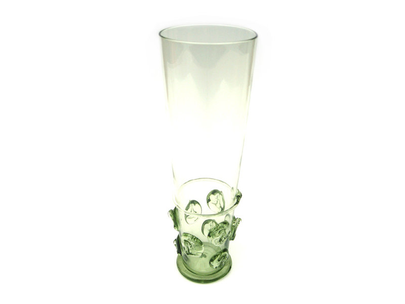 Beer glass, spine button 20 cm, green