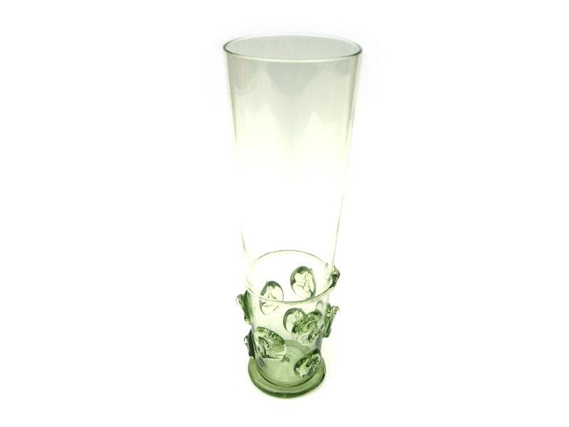 Verre à bière, bouton dos 20 cm, vert