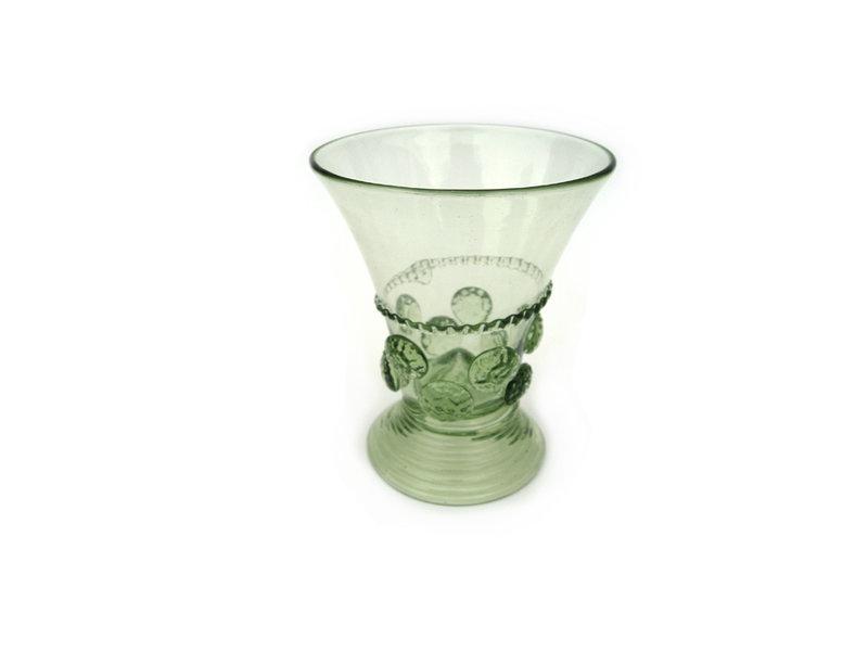 Glas, Berkemeier, noppen 9 cm, groen