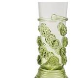 Ausgussglas mit Nieten 17 cm, grün