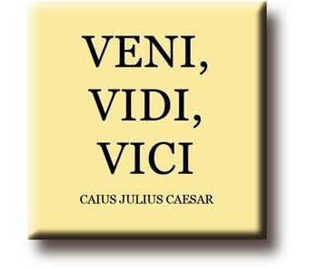 Koelkastmagneet,  Julius Caesar, Veni, Vidi, Vici