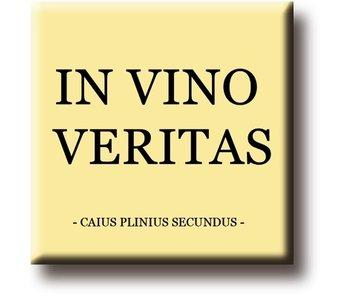 Koelkastmagneet,  Plinius Secundus, In Vino Veritas