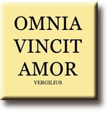 Imán de nevera, Virgil, Omnia Vincit Amor