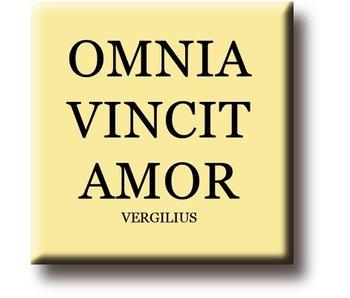 Koelkastmagneet, Vergilius, Omnia Vincit Amor
